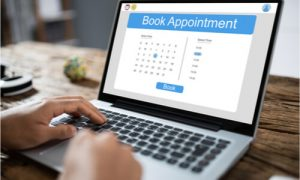 You can now book an appointment using online applications.
